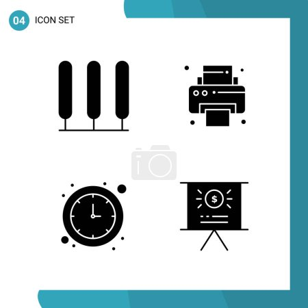 Set of universal icons, simply vector Illustration...