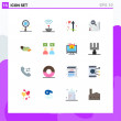 User Interface Pack of 16 Basic Flat Colors of dol...