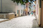 Streets of historic city of Nin, Croatia
