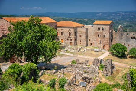 Mystras, Greece. The Despot's Palace, an ancient r...