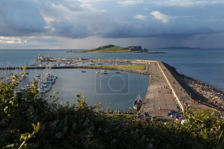 Viw of Howth harbour