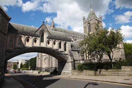 Christ Church Cathedral and bridge to former Synod Hall
