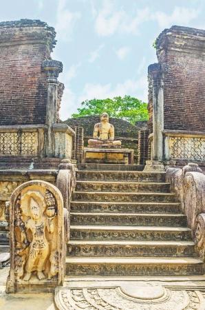 La maison de Stupa de Dalada Maluwa