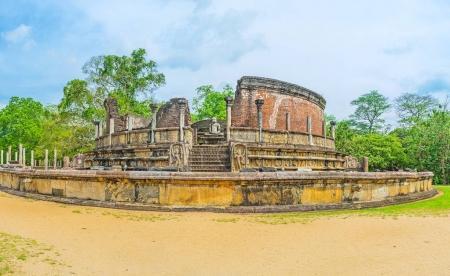 Les ruines bouddhiques à Polonnaruwa