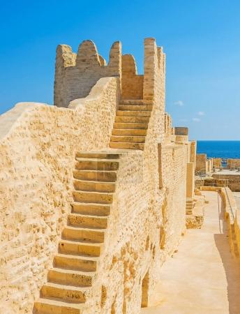 The stairs to Ribat tower, Monastir