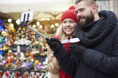 Couple chosing christmas presents