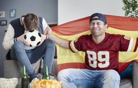 disappointed sport fans