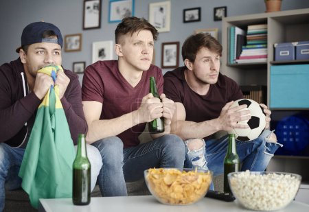 Soccer fans cheering for team