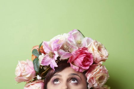 beautiful lady with floral crown