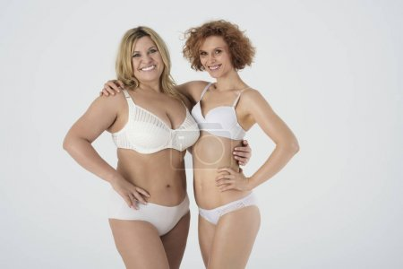two women in underwear