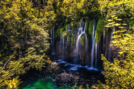 July 21, 2016: Cascades of the Plitvice Lakes National Park, Croatia