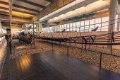 December 04, 2016: Viking ships inside the Viking Ship Museum of
