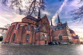 December 04, 2016: Sideview of the cathedral of Saint Luke in Ro