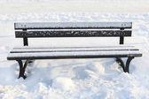 """Постер, картина, фотообои """"Bench under the snow. """""""