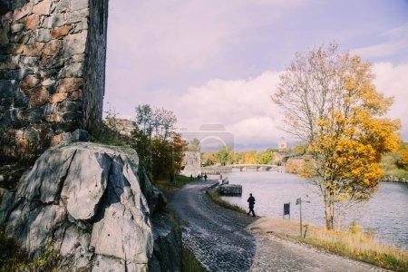 Photo pour Voyageant en ville Helsinki en journée, Finlande - image libre de droit