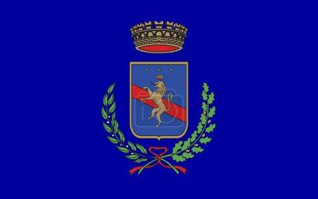 Flag of Potenza of Basilicata, Italy