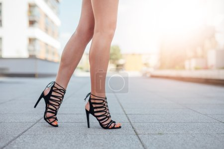 Woman's legs in high heels
