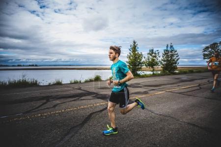 Man Marathoner Sprinting
