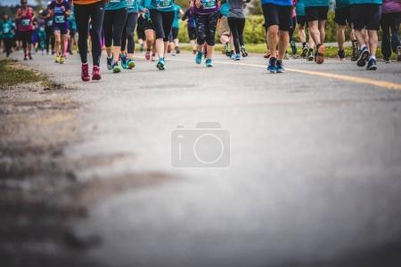 Background of Marathoners Feet