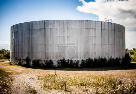 Abandoned Oil Refinery Gas Tank