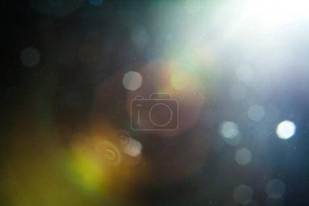 Lens Flare Shot in Studio over Background