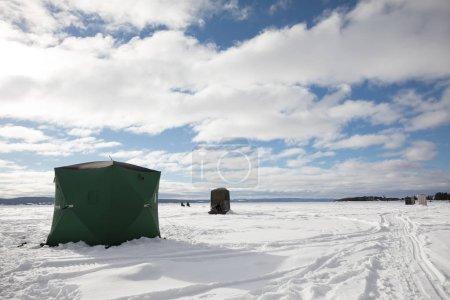 Ice Smelt Fishing Shack in Canada