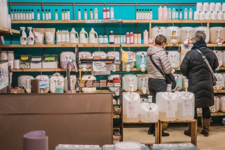 Montreal, Canada - November 27, 2017: Bulk Products and Food Available at Frenco, a Zero Waste Company