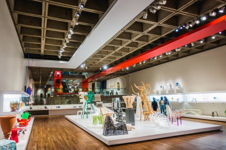 Montreal, Canada - November 28, 2017: Montreal Museum of Fine Arts. Section in the Decorative Arts