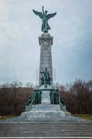 Montreal, Canada - November 30, 2017: Sir George Etienne Cartier Monument in Mount Royal Park by sculptor George William Hill.