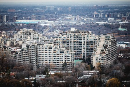 Montreal, Canada - November 30, 2017: Outremont big Apartment complexe named Mount Royal Sancuaire Sud.