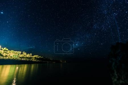 Night Long Exposure of the Stars in the Caribbean