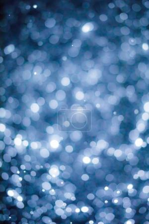 Abstract Blurry Snowflakes Bokeh Overlay Filter Effect or Bright Xmas Background Theme.