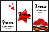 Vertical web banner 9 may Victory Day red star