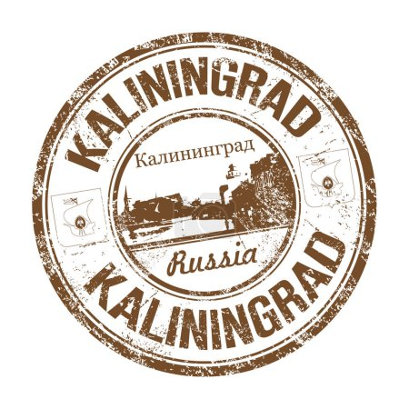 Kaliningrad grunge rubber stamp