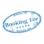 Booking fee grunge rubber stamp