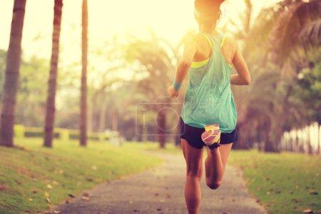 asian woman running