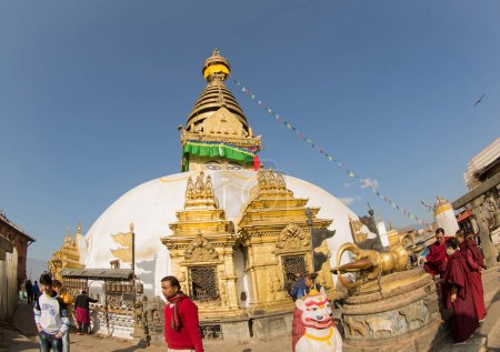 Swayambhunath is an ancient religious complex