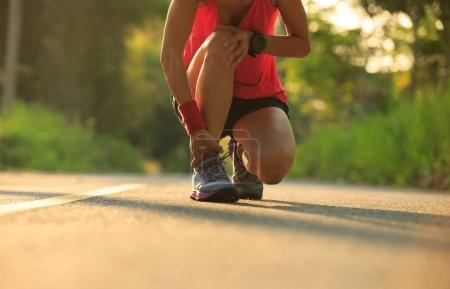 runner got sports injury on knee
