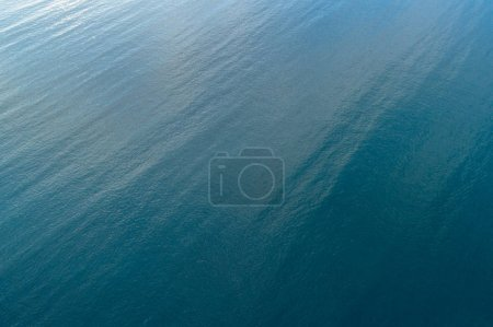 aerial view of the sea water waves surface