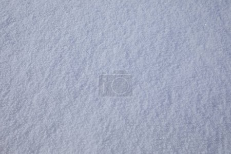 White snow texture, close up view