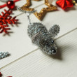 The toy mouse. Decoration for the new year....
