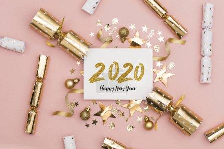 Photo pour 2020 Bonne année fond de fête - image libre de droit