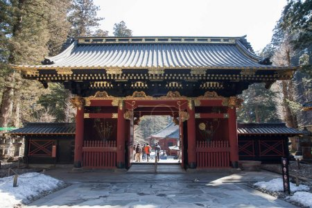 Nio-mon Gate at Taiyuinbyo - the Mausoleum of Shogun Tokugawa Ie
