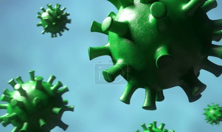 Photo for Visualization of the dangerous Coronavirus 2019-nCov virus that has infected almost the entire planet. 3D Rendering - Royalty Free Image