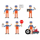Car services icons vector illustration