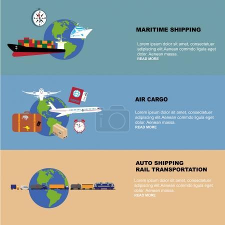Global logistics network Concept