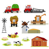 Agriculture and farming icons on white background