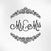Mister and Miss Wedding Logo Design Background