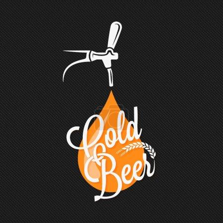 Illustration for Beer Tap Label Design Background 10 eps - Royalty Free Image
