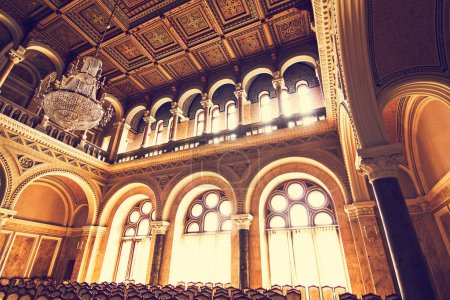 Internal halls in beautiful historical building of Chernivtsi national university